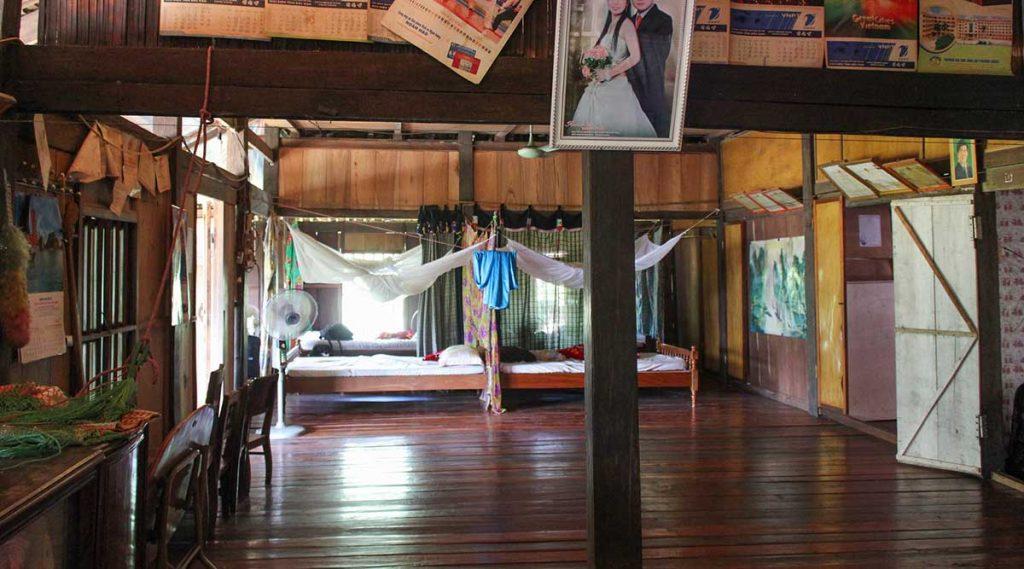 binnen in een homestay in Vietnam