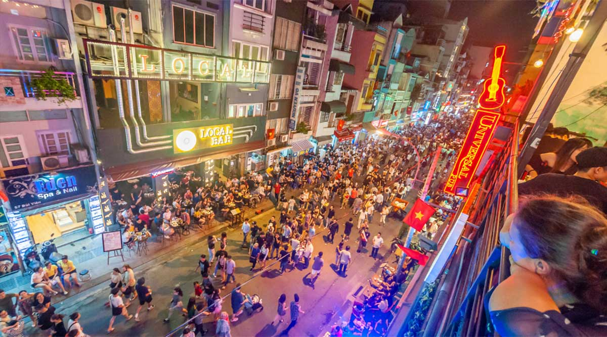 Bui Vien Street backpackers centrum van Ho Chi Minh City