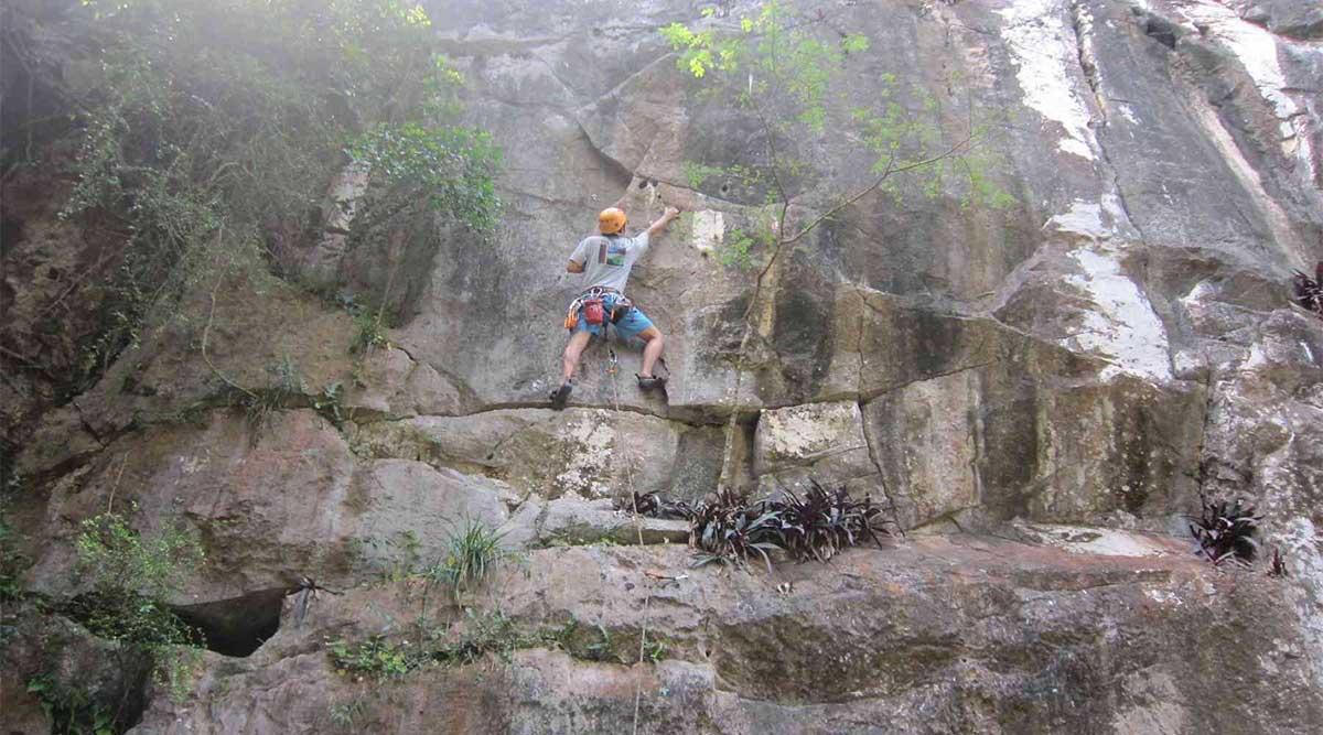 Rotsklimmen op de Marble Mountains