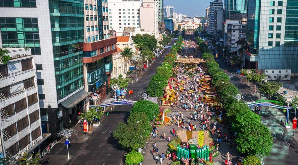 Nguyen Hue Walking Street in Ho Chi Minh City