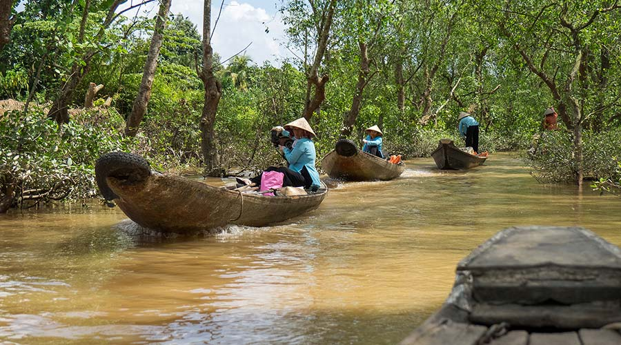 boottocht in de Mekong Delta van Vietnam