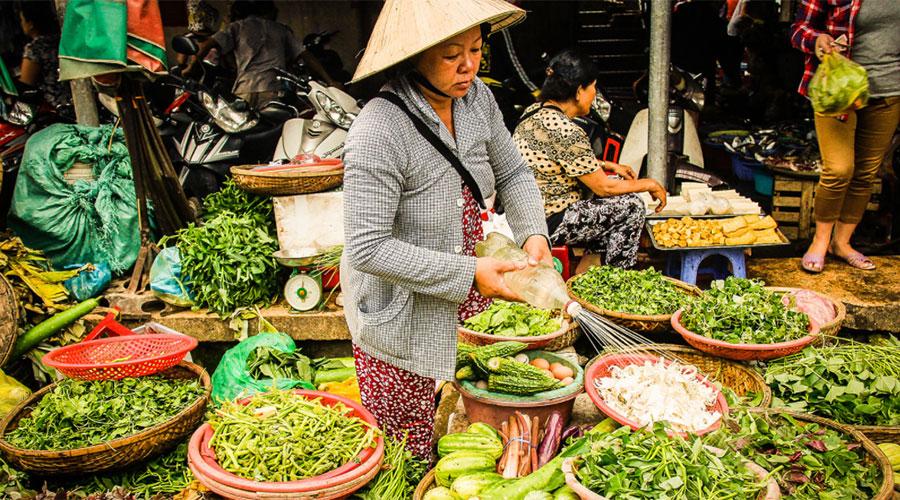 Dong Ba markt Hue