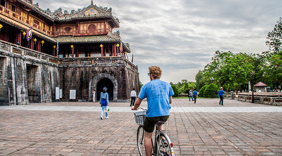 fietsen in Hue Vietnam