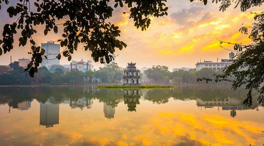 Hoan Kiem Lake - meer in centrum Hanoi