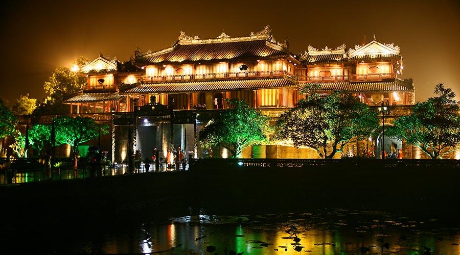 Hue Citadel 's nachts