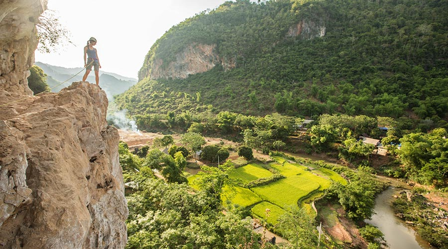 Klimmen in Mai Chau