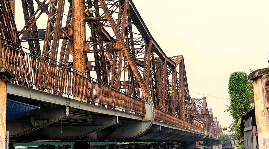 Long Bien Bridge - brug in Hanoi