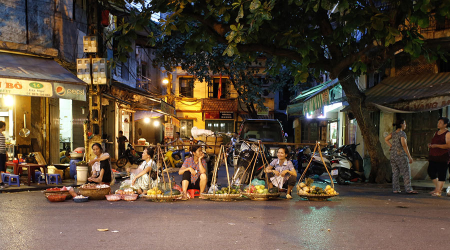 Old Quarter - oude centrum van Hanoi