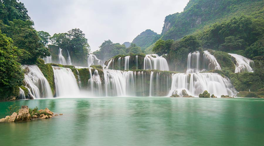Ban Gioc waterval in Vietnam