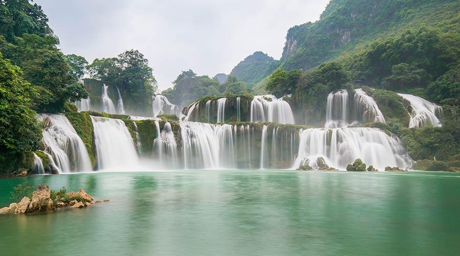 Ban Gioc waterval in Vietnam