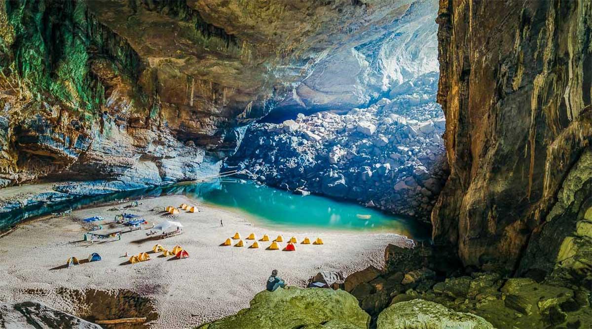 camperen in een grot in Phong Nha