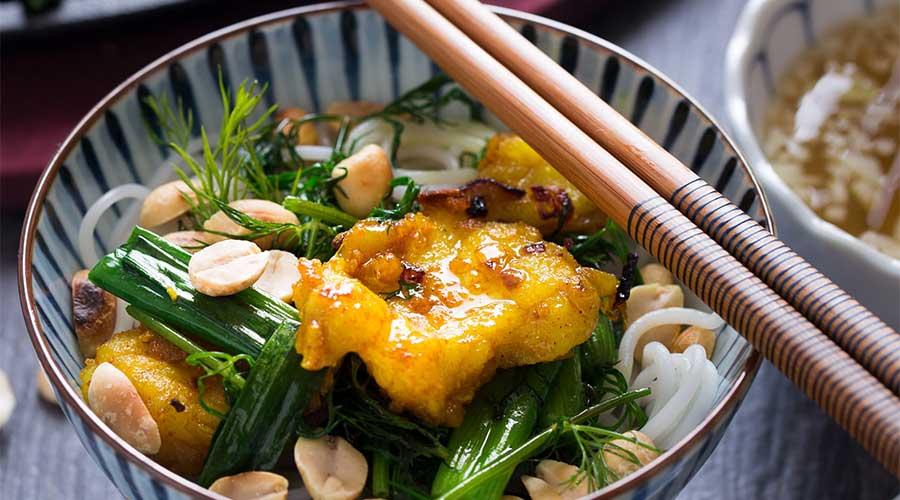 Cha Ca La Vong: Vis met groente en saus