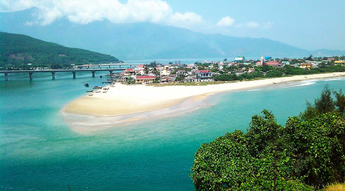 Lang Co beach, Hue strand in Vietnam