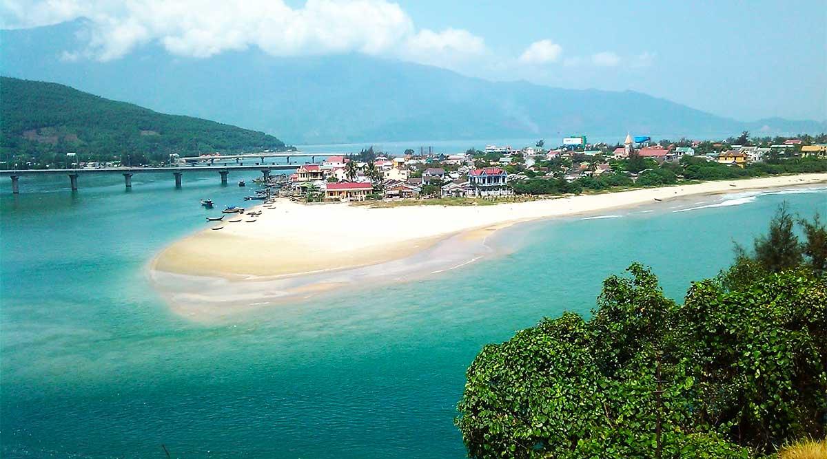 Lang Co beach, Hue strand in Vietnam