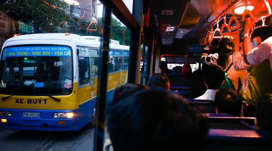 lokale bus in Vietnam