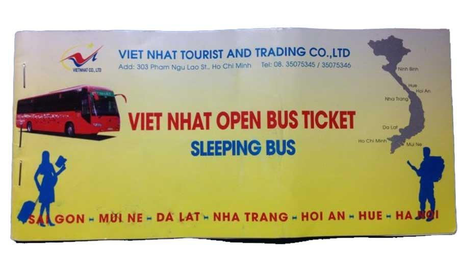 open bus ticket vietnam