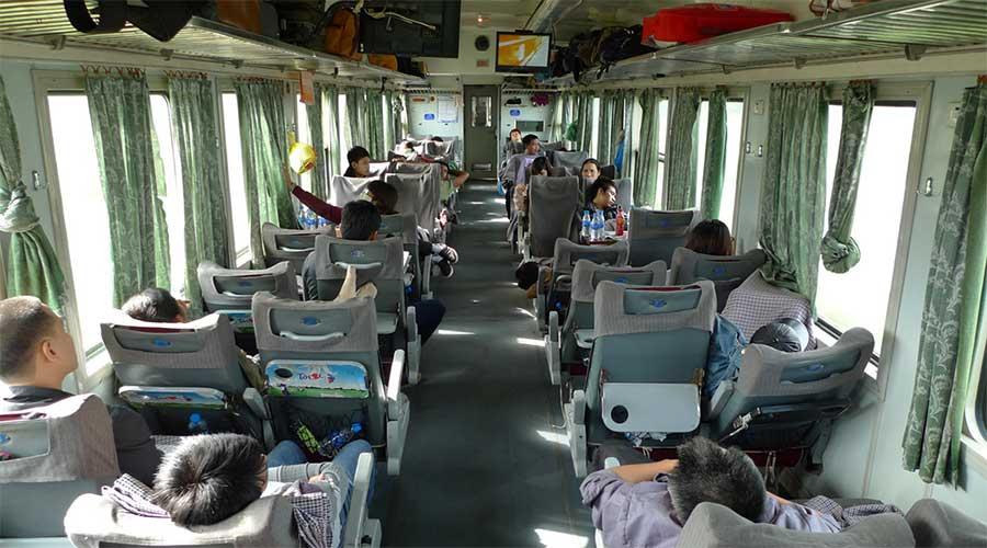 soft seat trein in Vietnam
