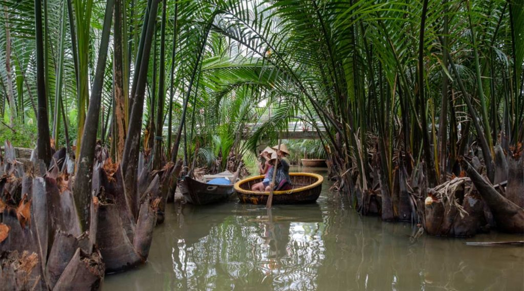 bamboe boottocht in Hoi An