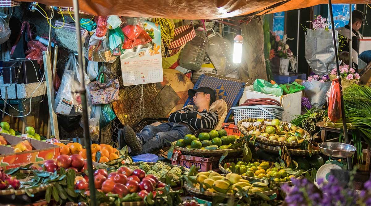 bloemenmarkt Hanoi