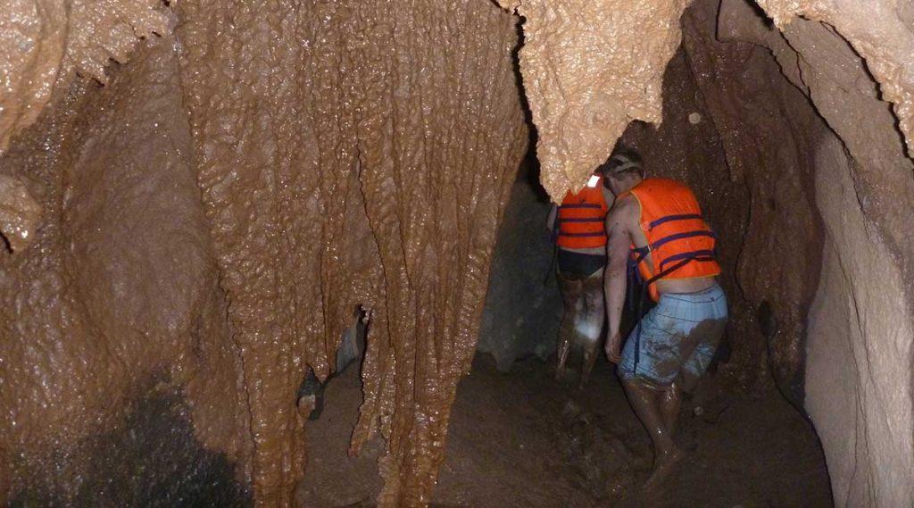 Dark Cave in Vietnam