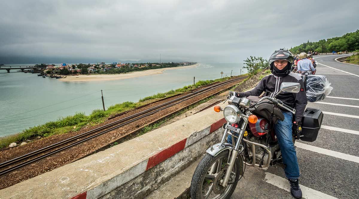 Easy Rider op motor over de Hai Van Pass