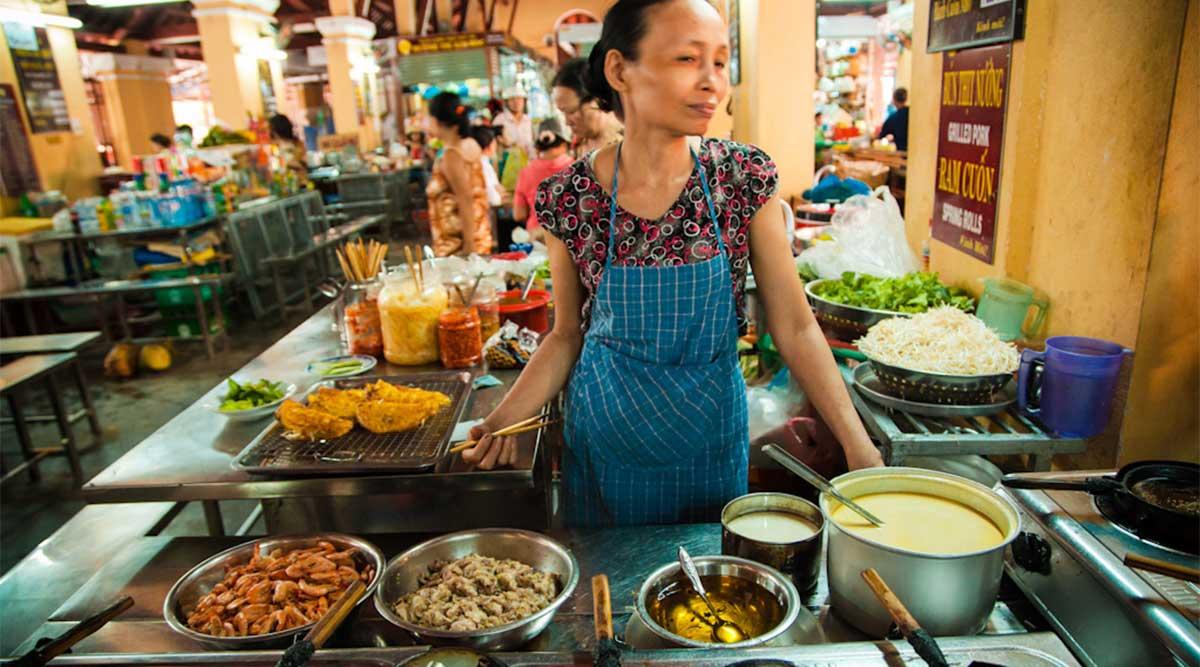 food courtvan de Hoi An Central Market