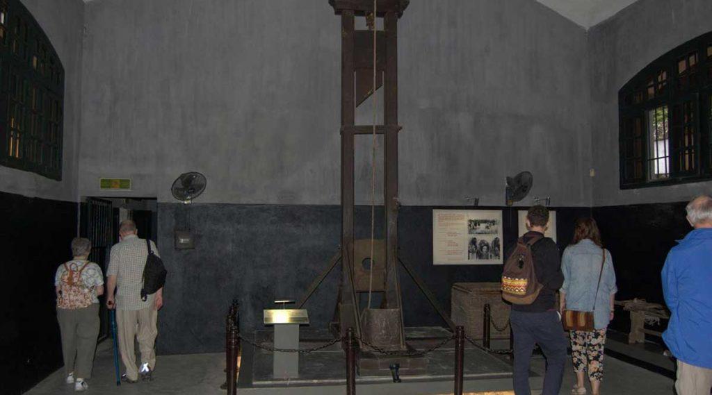 guillotine in gevangenis van Hanoi