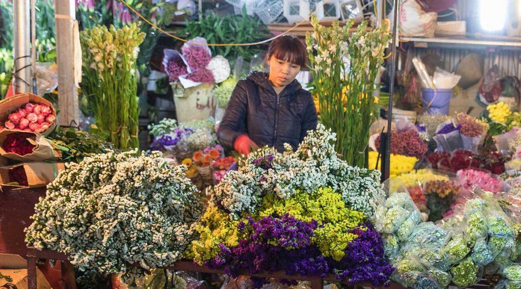 Hanoi Bloemenmarkt