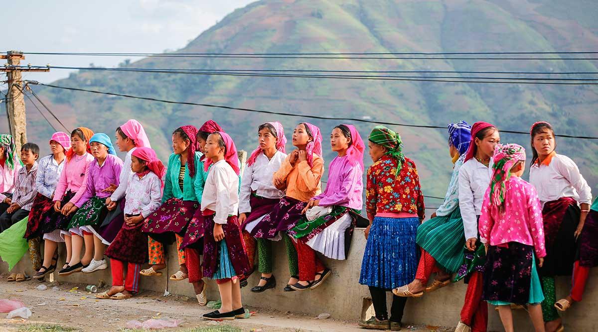 Khau Vai markt