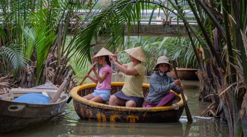 mandboot tocht in Hoi An