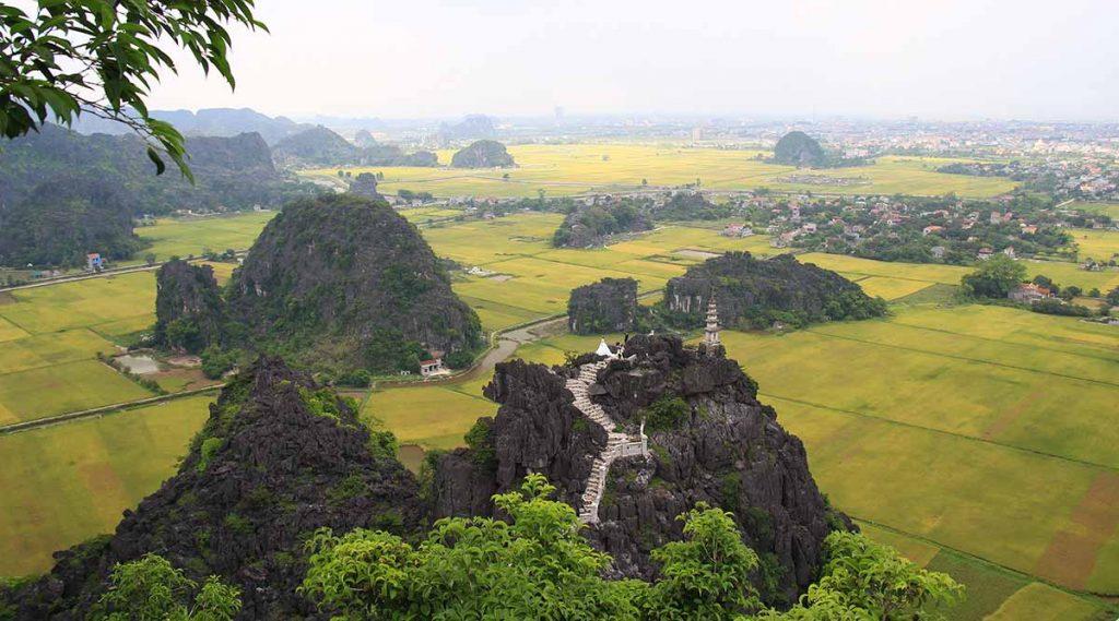 Mua Cave rijstvelden