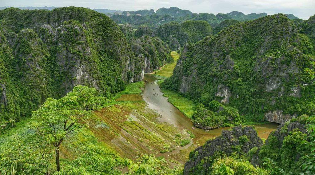 Mua Cave uitzicht