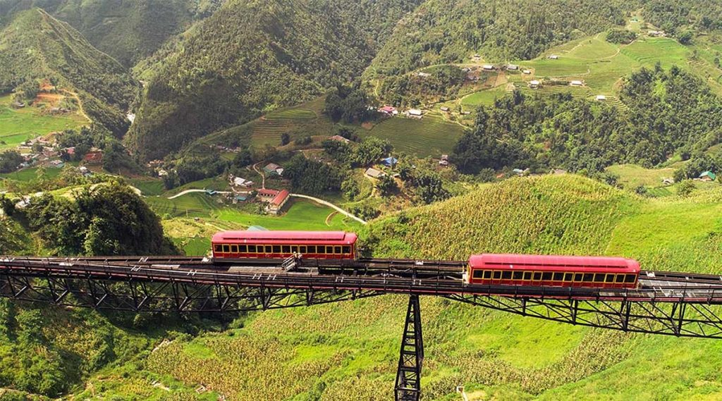 Muong Hoa-bergtrein van Sapa naar Fansipan