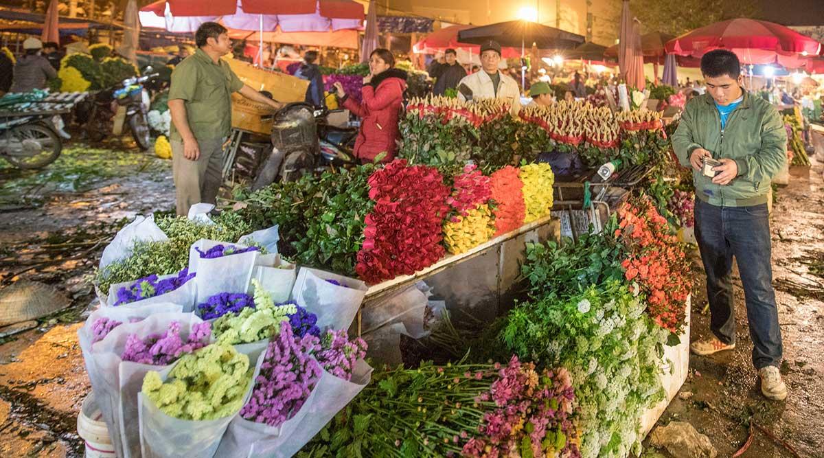Quang Ba bloemenmarkt