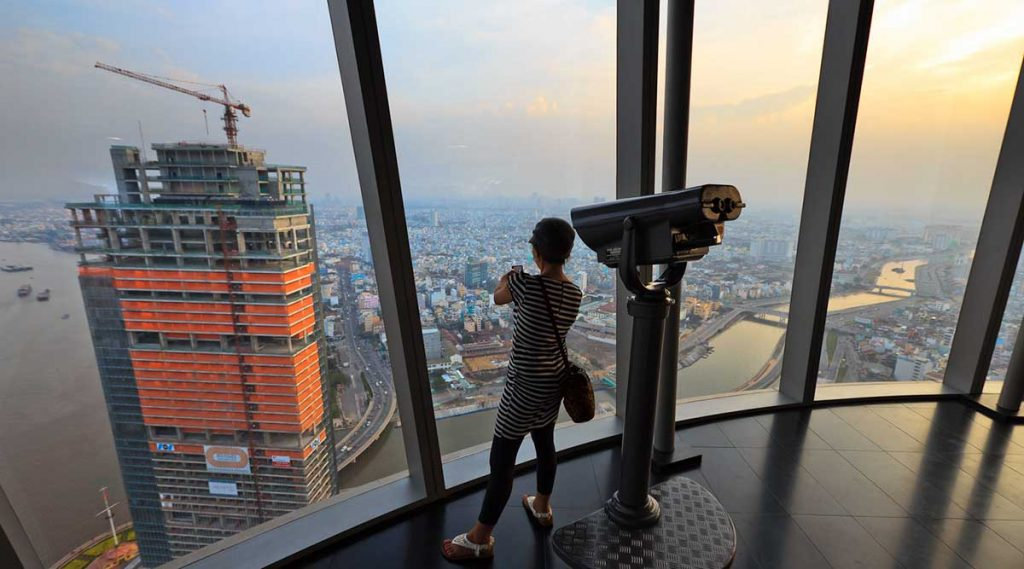 Skydeck in Bitexco Tower Ho Chi Minh City