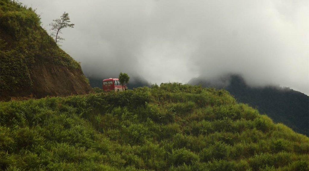 weg over de Tram Ton Pass bij Sapa