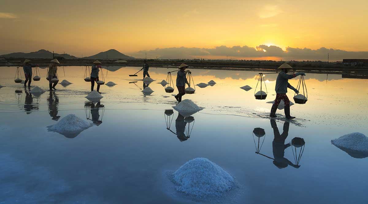zoutvelden bij Nha Trang
