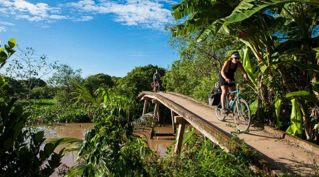 Fietsen in Ben Tre - Mekong Delta