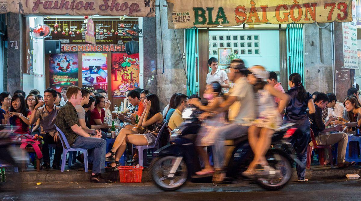 Eten in Bui Vien Street