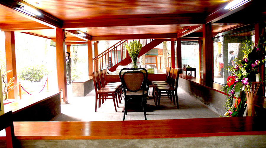 Ho Chi Minh's Stilt kantoor in huis