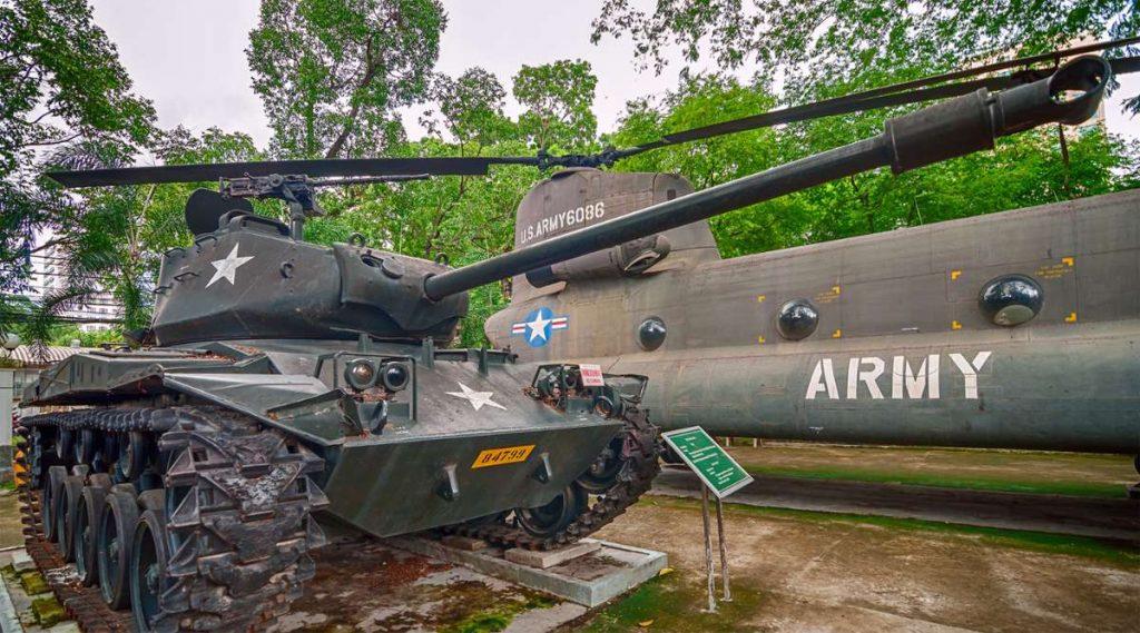 Tank in het War Remnants Museum