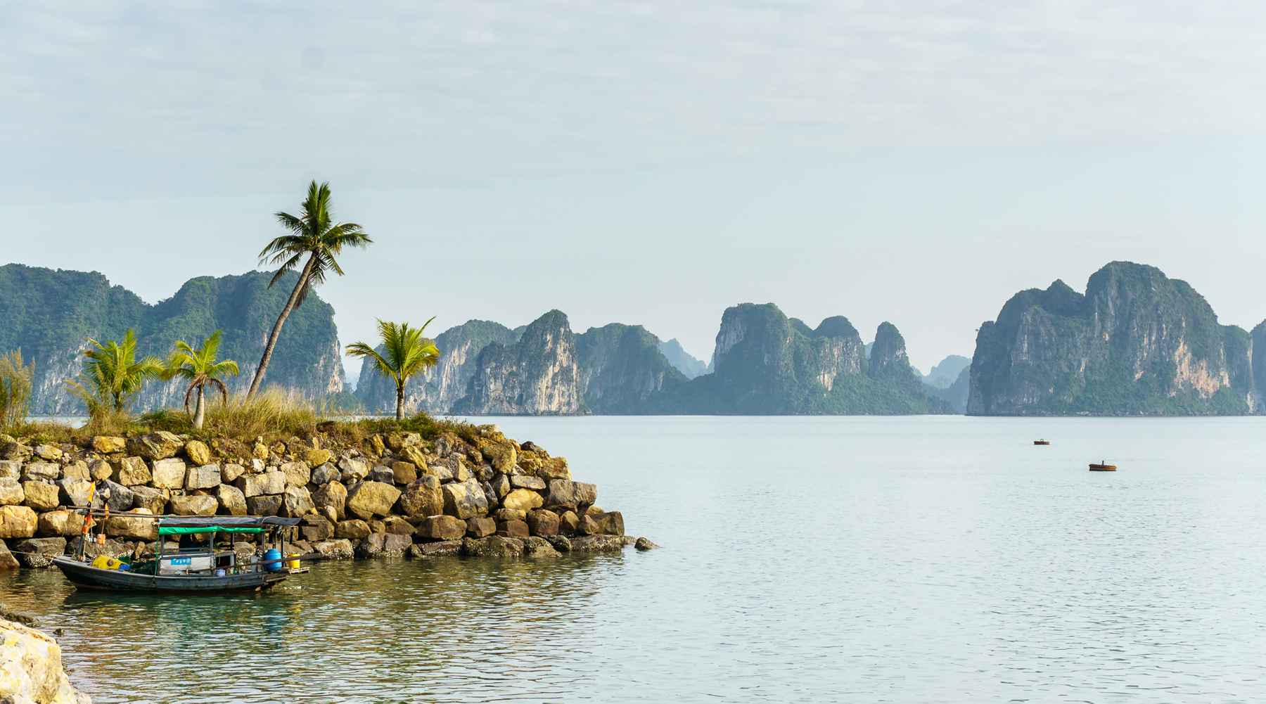 Tuan Chau island in Halong Bay