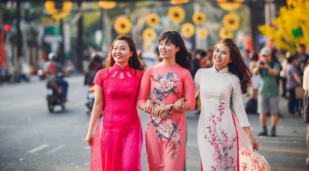 ao dai tradtionale jurk Vietnam