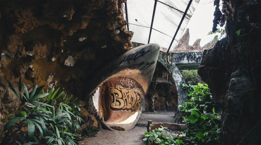 verlaten waterpark in Hue
