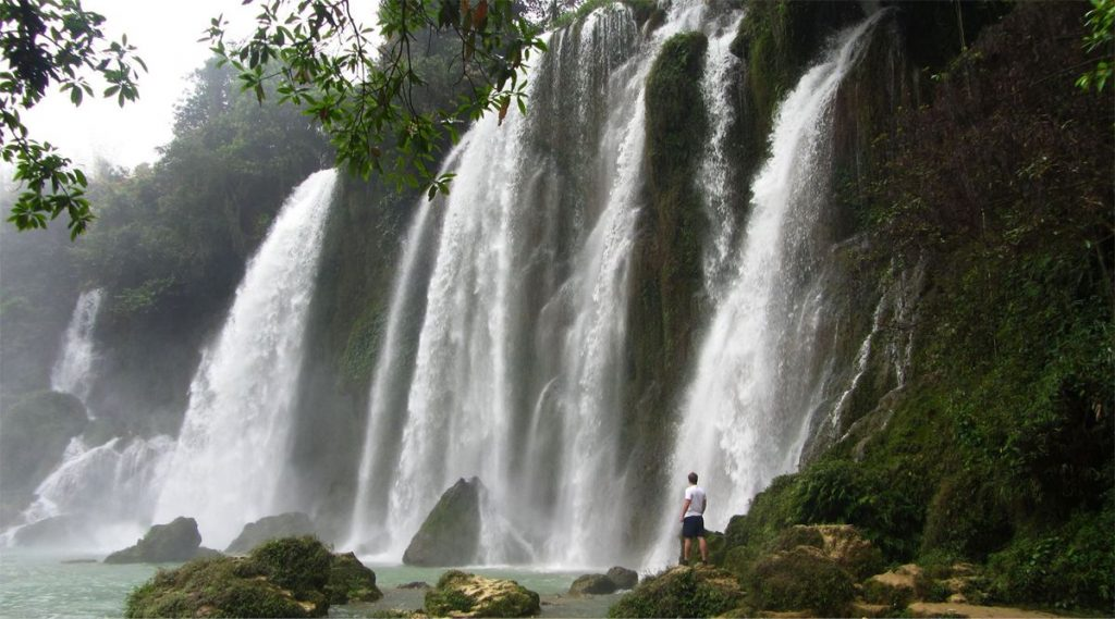 Ban Gioc waterval in Cao Bang Noord Vietnam