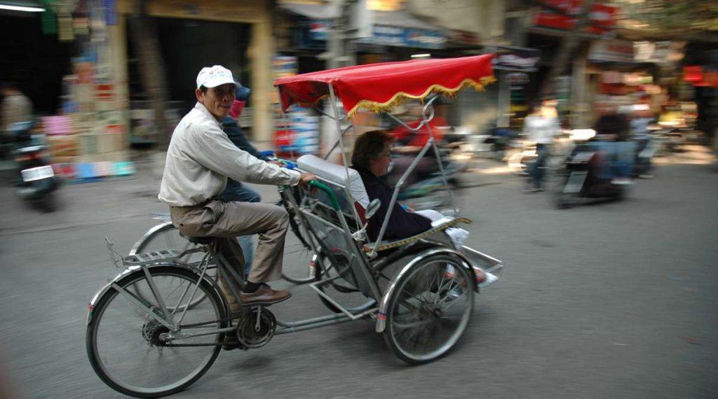 Cyclo fiets tour in Hanoi