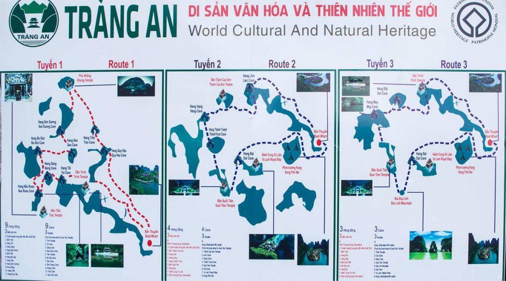 Trang An kaart klein