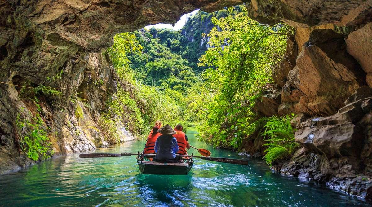 Trang An roeiboot