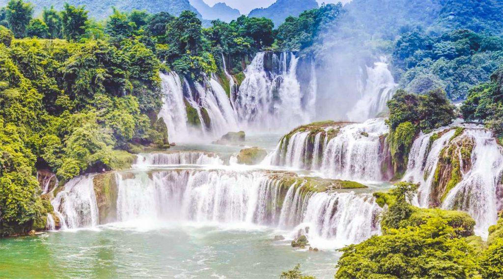 de Ban Gioc watervallen in Vietnam