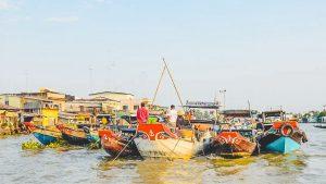 Cai Be drijvende markt Mekong Delta